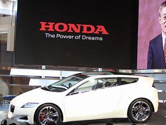 Prezident Hondy Takeo Fukui s konceptem CR-Z