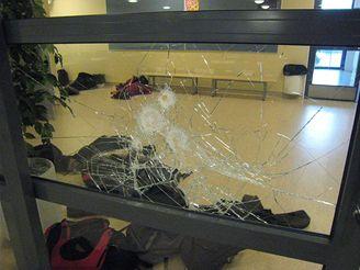 Záběr ze školy v Tuusule, kde student Pekka-Eric Auvinen postřílel osm lidí