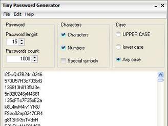 Tiny Password Generator 1.0