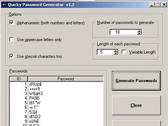 Quicky Password Generator 1.2