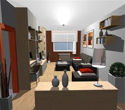 Proměna obývacího pokoje a koupelny