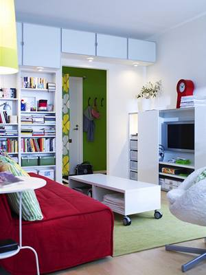 Vzorové pokoje v IKEA lákají