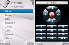 První screenshoty aplikace irRemote pro S60 3rd