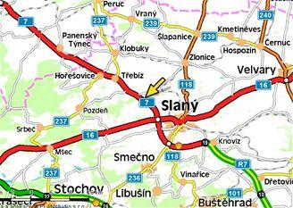 mapa, nehoda, Lotouš (7.11.2007)