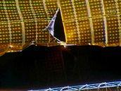 V sol�rn�m panelu Mezin�rodn� vesm�rn� stanice se ud�lala trhlina velk� 75 centimetr�
