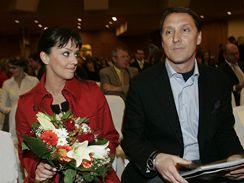 Tereza Brodská s manželem Herbertem Slavíkem