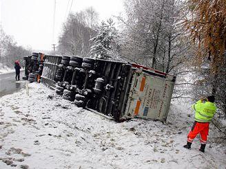 nehoda v Ořechově, uprchlý býček (14.11. 2007)