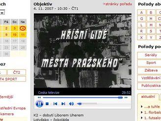 Screenshot z internetového vysílání ČT