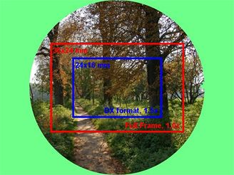 výřez obrazu objektivu