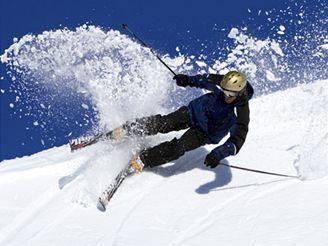 lyžař, sjezdovka, lyže, zima