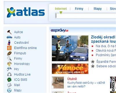 Stránka Atlas.cz