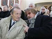 Pohřeb Petra Haničince - Radoslav Brzobohatý a Karel Vágner