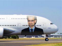 Saúdskoarabský Princ Alwaleed Bin Talal Alsaud, koupil si Airbus A380