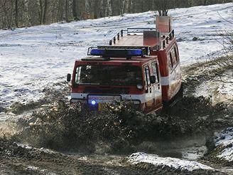 Nové pásové vozidlo libereckých hasičů