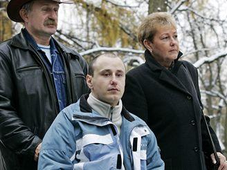 Martin Hrůza s rodiči