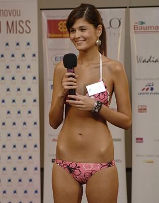 Kliknutím zobrazíte větší formát - z brněnského castingu České Miss - finalistka s řeckými kořeny Elisavet Charalambidu