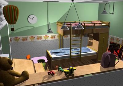 Tři varianty dětského pokoje