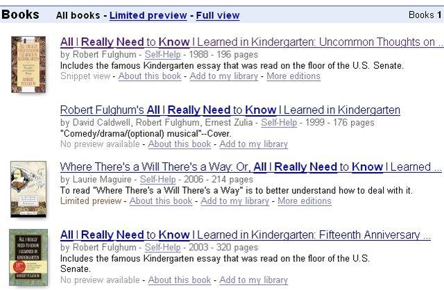 Google Books - vyhledávání