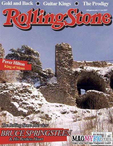 Zubštejn v zimě na obálce Rolling Stone