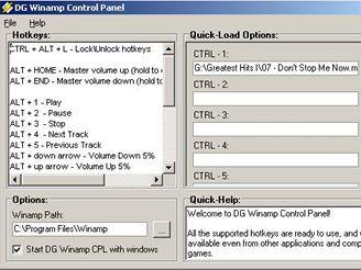 DG Winamp Control Panel 2.5.4.1