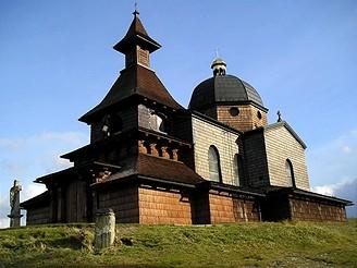 Poutní dřevěná kaple na Radhošti