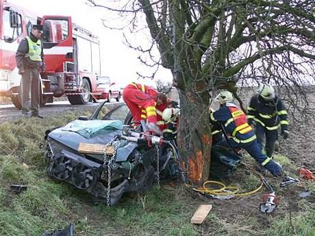 Nehoda u Holešova na Zlínsku (3.12.2007)