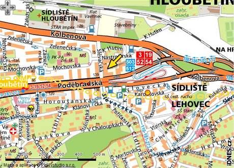 mapa, Slévačská