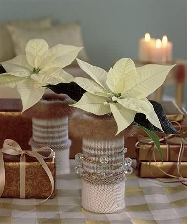 Ponožkové vázičky - dekorace krok za krokem