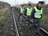 Policisté na místě nehody pendolina
