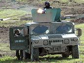 Vozidlo Humvee.