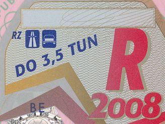 Dálniční známka pro rok 2008