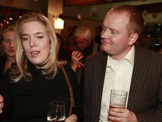 dcera Dagmar Havlové Nina a její přítel z Holandska