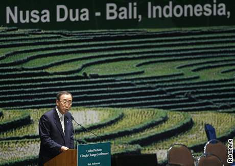 Šéf OSN Pan Ki-mun na klimatické konferenci na Bali