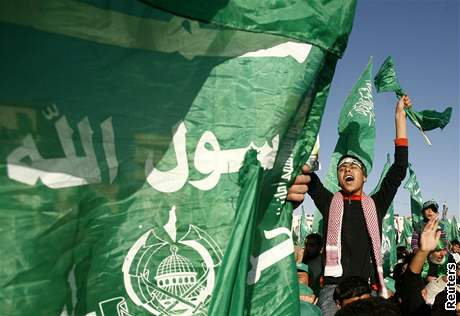 Palestinci v Gaze slavili 20 let hnutí Hamas