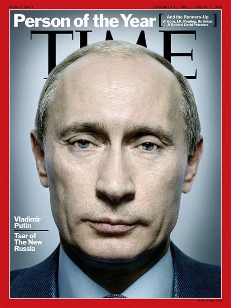 Osobnost roku Vladimir Putin na titulní straně magazínu Time