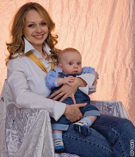 Lucie Talmanová se synem