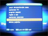 Set-top box mustek DVB-T350 - menu Nastavení