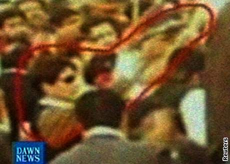 Snímek zachycující pravděpodobné vrahy Bhuttové.