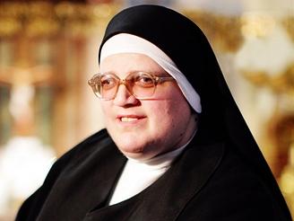 Sestra Benedikta - představená kláštera Šedých sester v Bartolomějské ulici