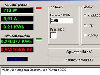 Elektroměr pro PC 2008