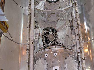 Modul Unity v nákladovém prostoru raketoplánu
