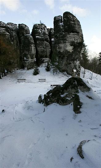 Tiské stěny v zimě