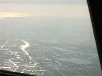 Přílet k Amsterdamu