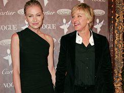 Portia de Rossi a Ellen DeGeneresová na galavečeru pro společnost The Art of Elysium