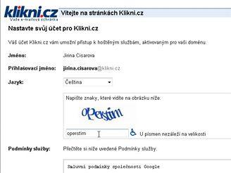 Klikni.cz - Nastavení
