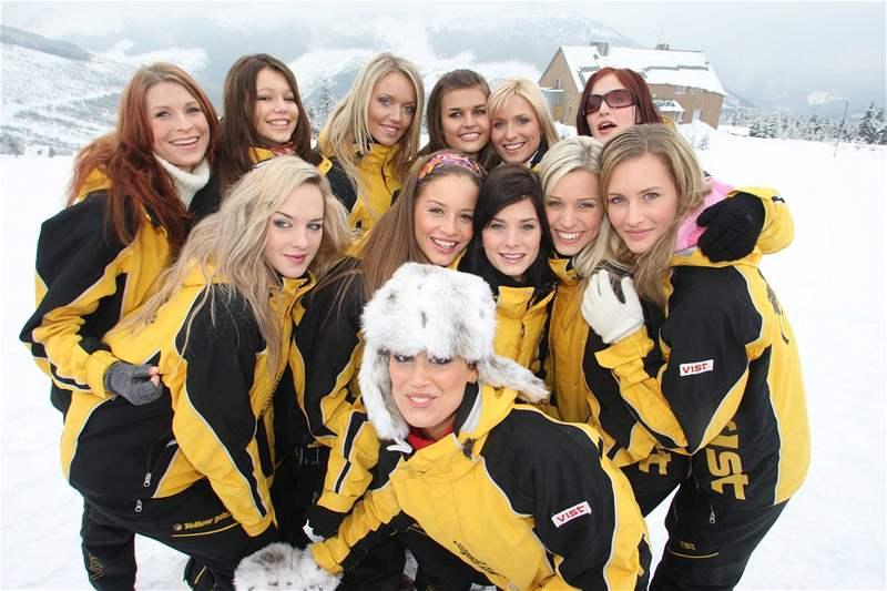 Finalistky Miss ČR 2008 na horách