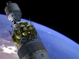 Orion a Altair při startu k Měsíci