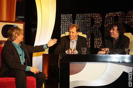 Mr. GS - Michal Suchánek, šéf TV Nova Petr Dvořák a Richard Genzer