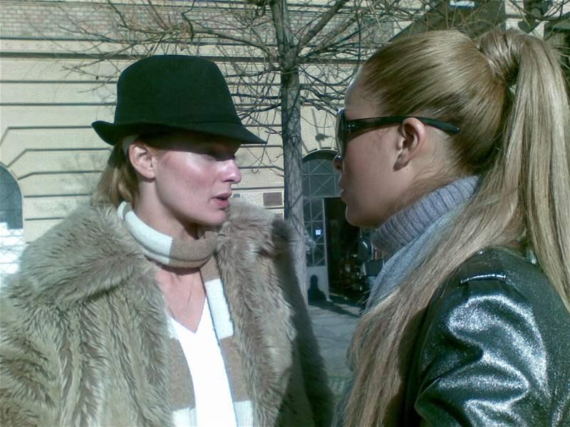 Petra Němcová se svou manažerkou Karolínou Bosákovou