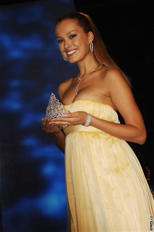 Topmodelka Petra Němcová na finále České Miss 2008